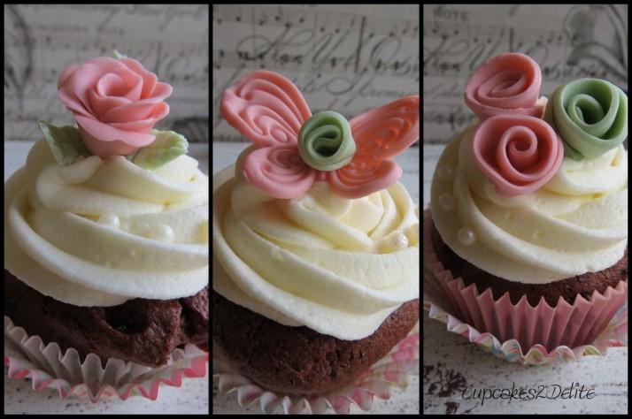 Pink & Moss Green Cupcakes