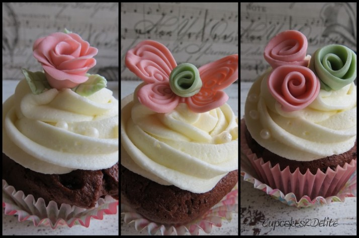 Pink & Moss Green Cupcakes