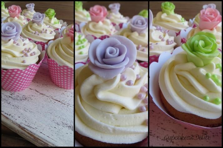 Pastel Rose Cupcakes