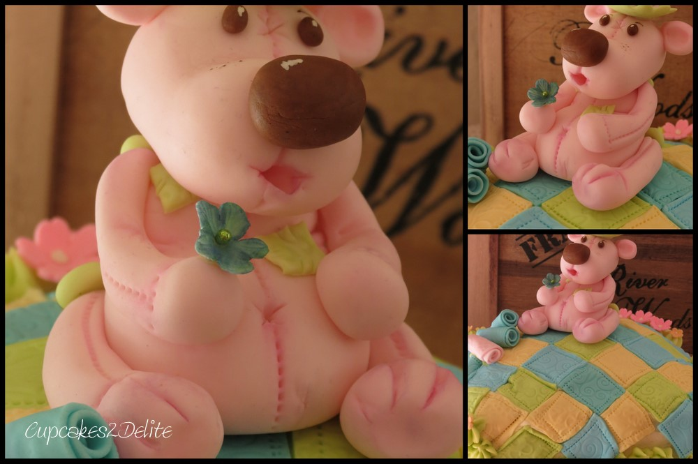 Pink Teddy Bear Cake