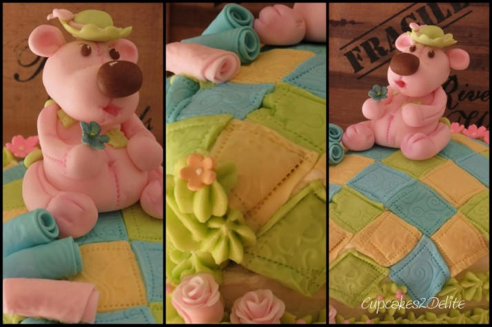 Pink Teddy Bear Cake