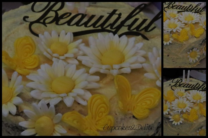 Yellow & White Daisy Cake