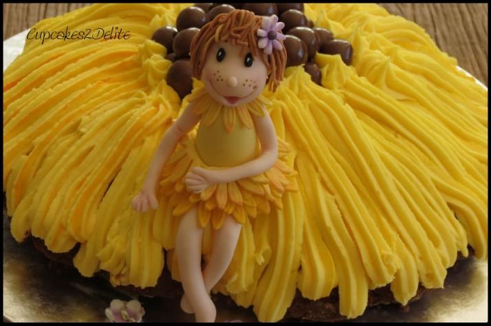 Sunflower Fairy Cake