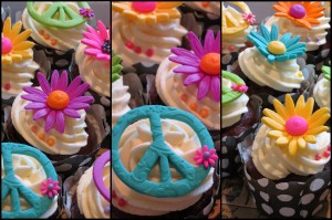 Hippie Hipster Cupcakes