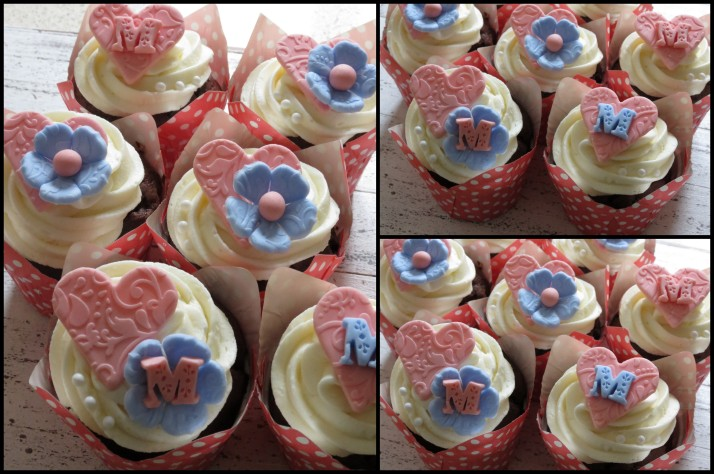 Pink & Peach Mothers Day Cupcakes
