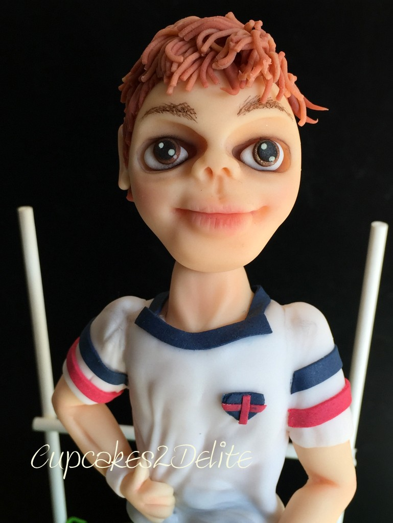Rugby Player Figurine Cake