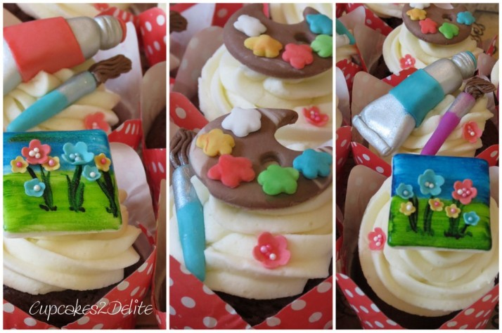 Artist Themed Cupcakes