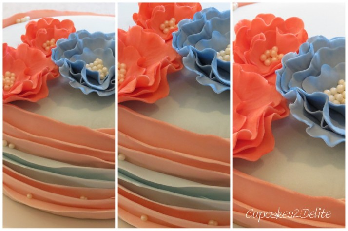 Ruffled Flower Cake
