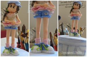 Ballet Rocks Denim Cake