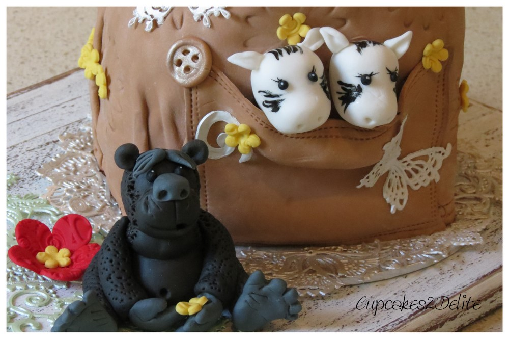 Gorilla Backpack Cake