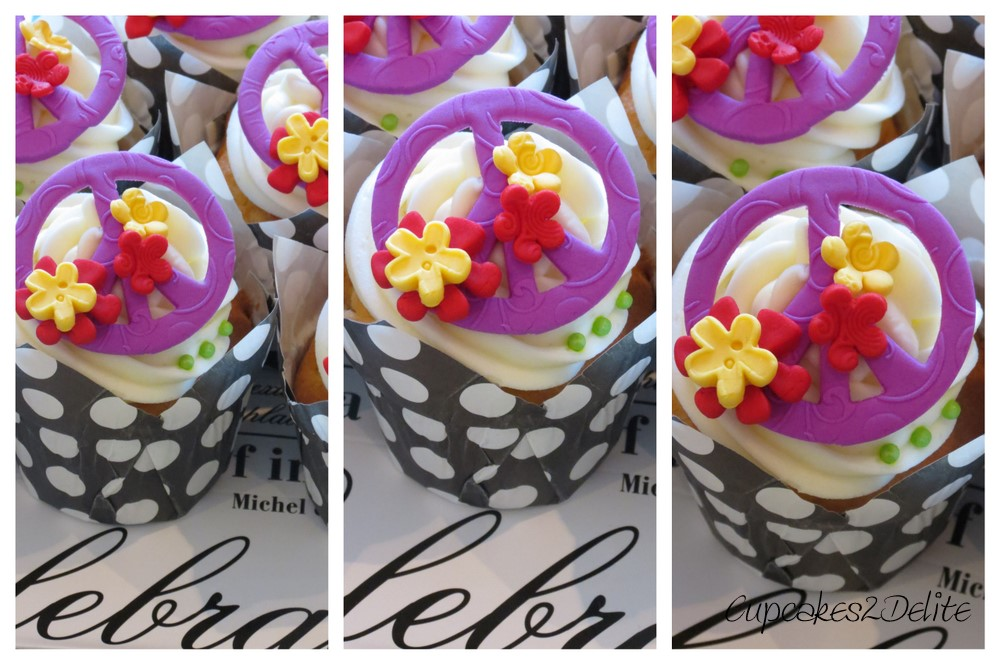 Peace Sign Cupcakes