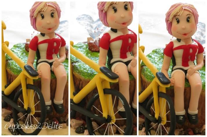 Sugar Cyclist Figurine & Bicycle Cake