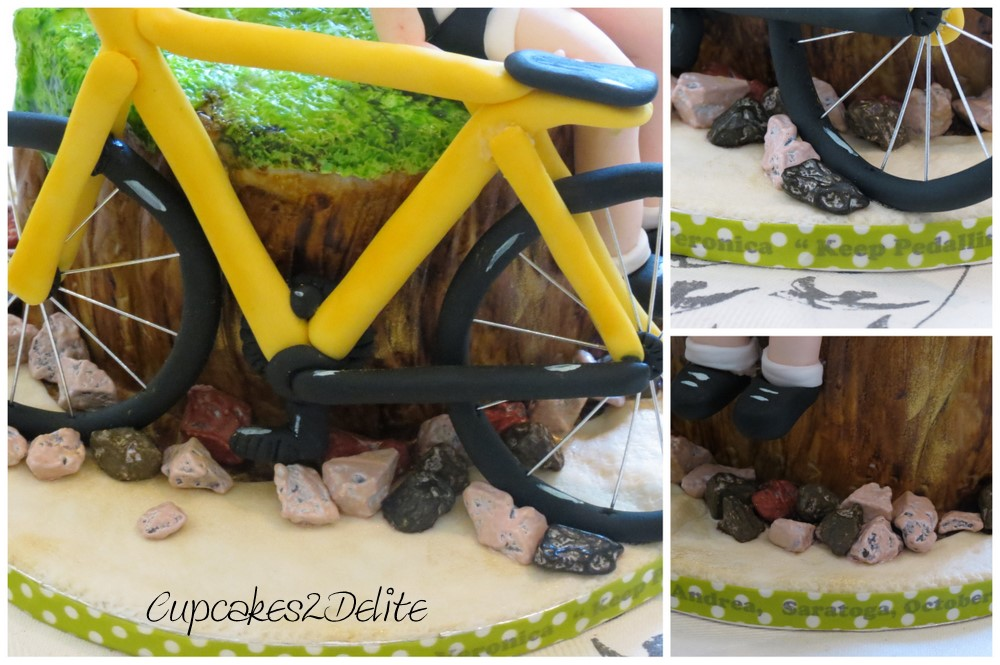 Sugar Cyclist Figurine & Bicycle Cake