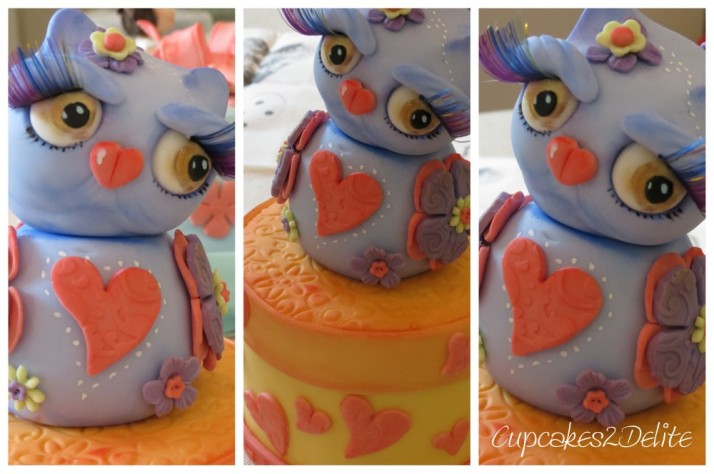 Owl Sugar Figurine