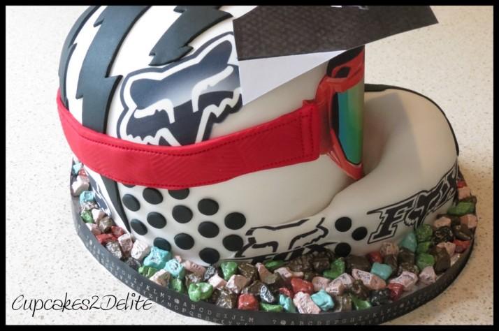 Motorbike Helmet Cake
