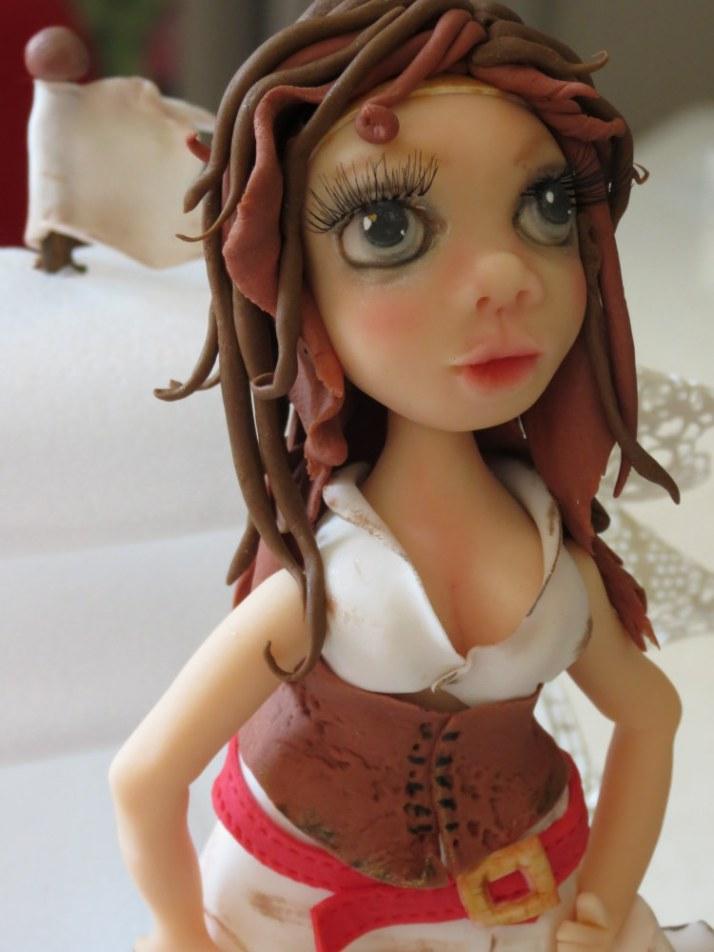 Pirate-Tess Sugar Figurine