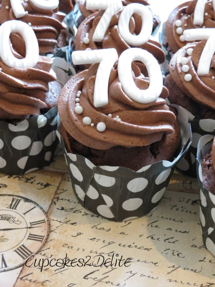 Cupcakes for a 70th Birthday Celebration