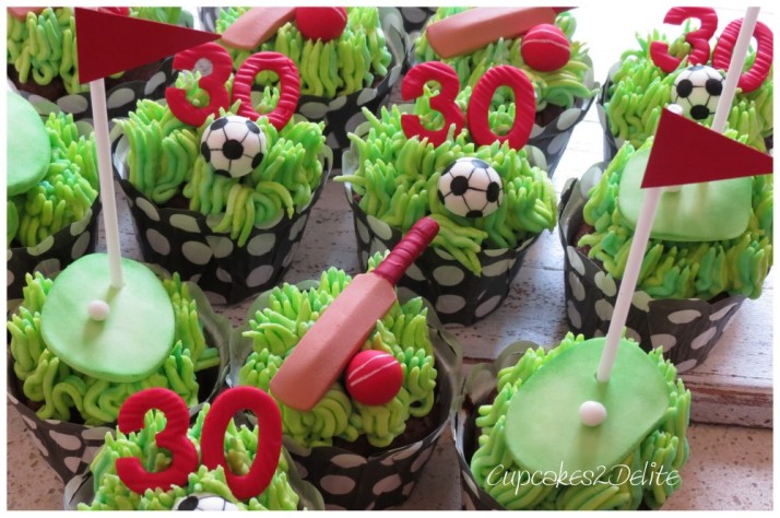 Golf, Soccer & Cricket Cupcakes