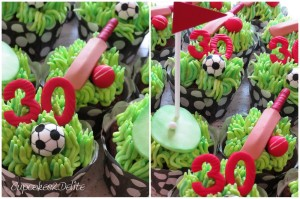 Golf, Soccer & Rugby Cupcakes