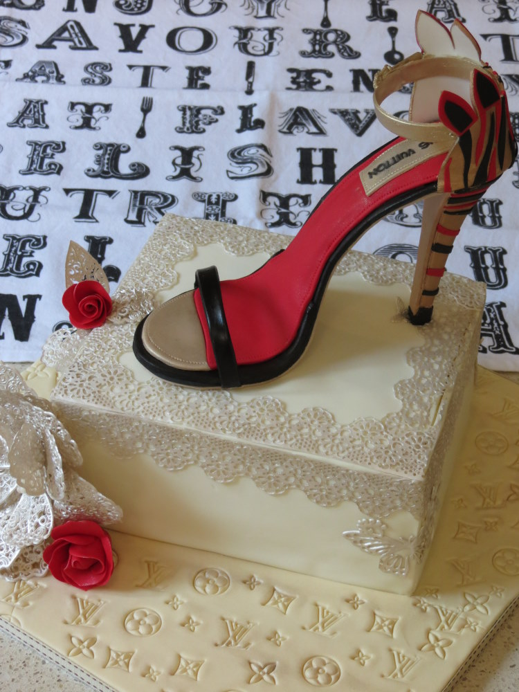 Louis Vuitton Shoe Cake 36