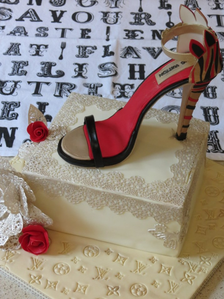 Louis Vuitton Shoe Cake  (36)
