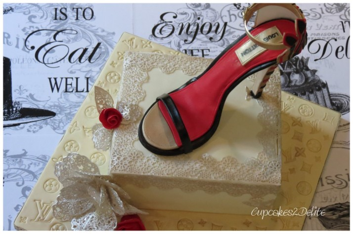 Louis Vuitton Shoe Cake
