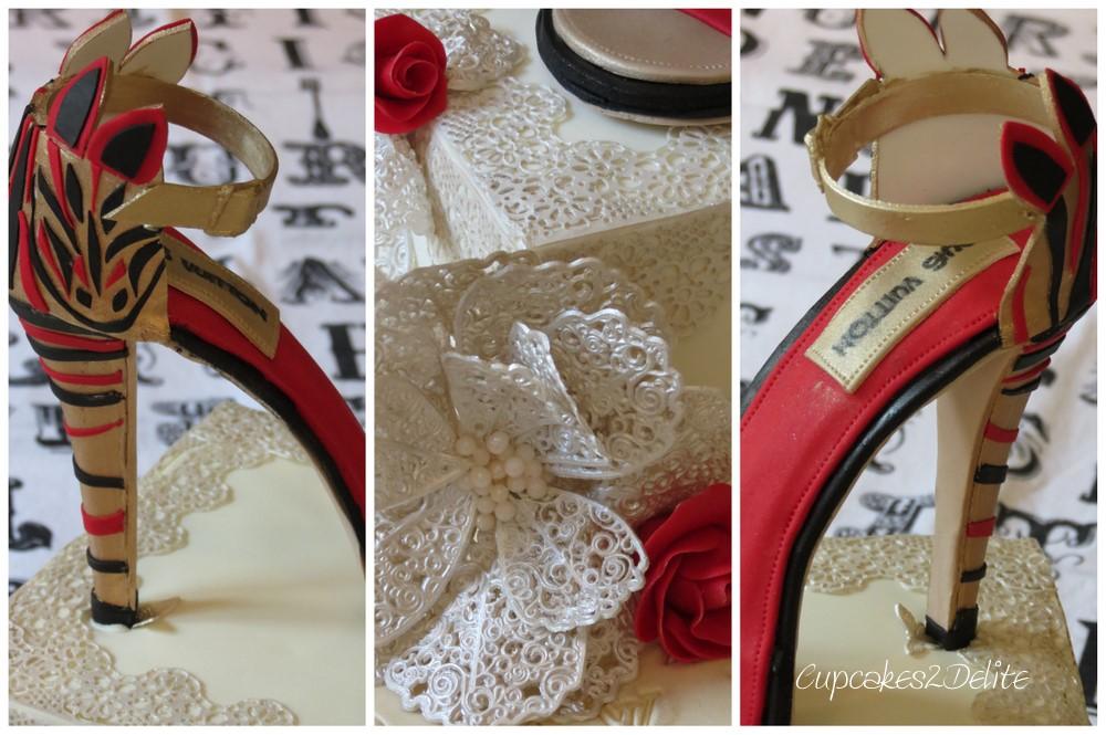 Louis Vuitton Shoe Cake Cupcakes2delite