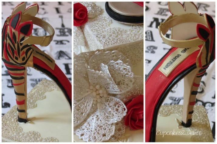 Louis Vuitton Shoe Cake