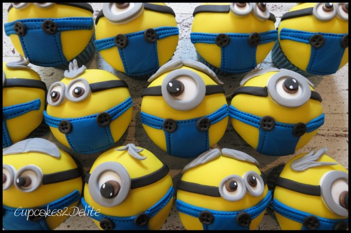 Minion Cupcakes in Dungarees