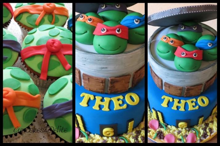 Ninja Turtle Cake & Cupcakes