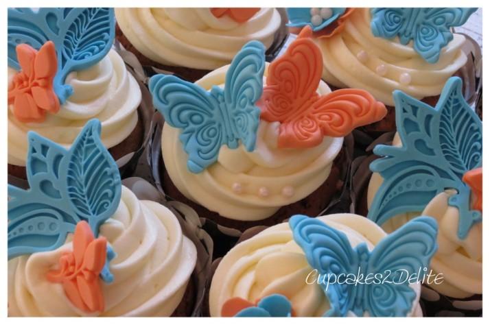 Blue & Peach Cupcakes1