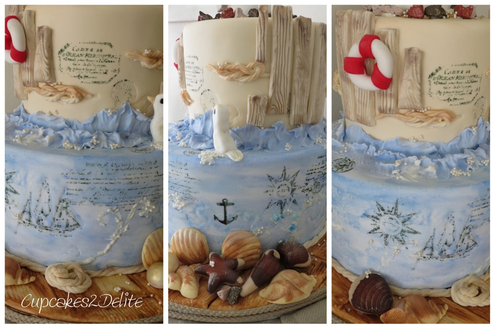 Lighthouse Cake For My Dads 80th Birthday Cupcakes2delite