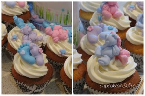 Teddy Baby Shower Cake & Cupcakes