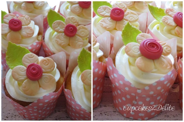 Quilled Centre Flower Cupcakes
