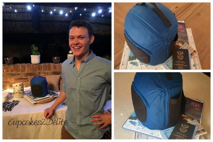 Brandon's 21st Backpack Cake