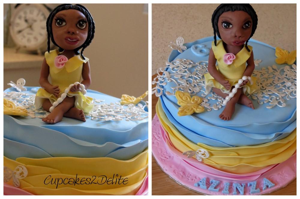 Girl in Yellow Dress Cake