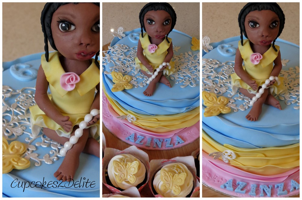 Girl in Yellow Dress Cake