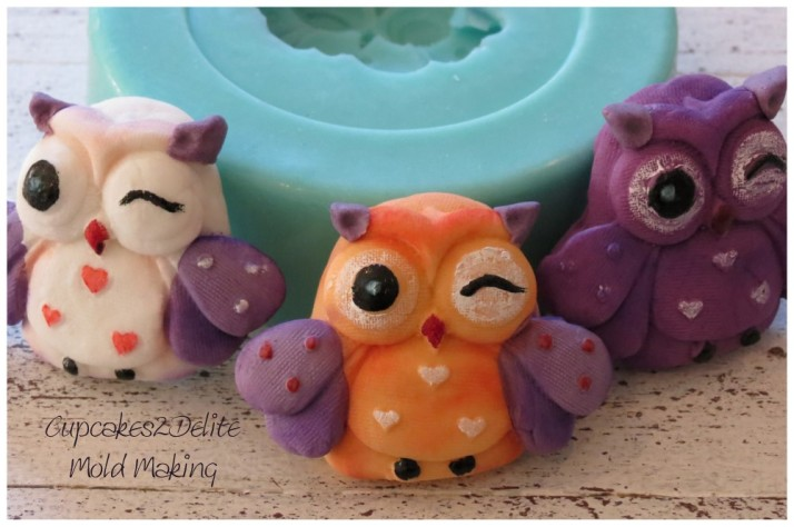 Owl Mould for Sugar Paste Owls