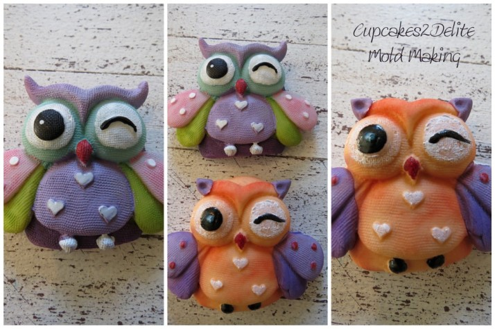 Owl Mold For Sugar Paste Owl