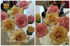 Sugar Paste Roses by Cupcakes2Delite