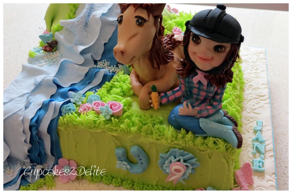 Horse & Rider Birthday Cake