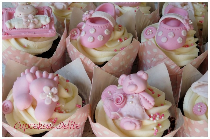 Baby Girl Cupcakes