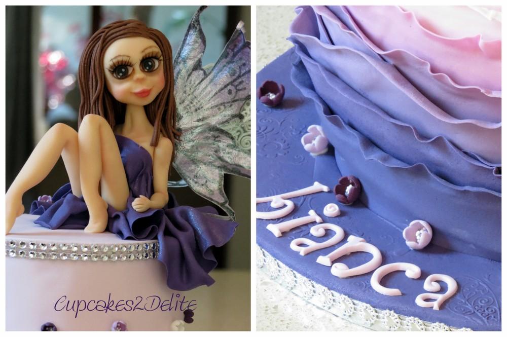 Purple Fairy 21st Birthday Cake