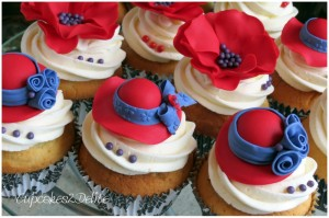 Red Hat Society 60th Birthday Cupcakes