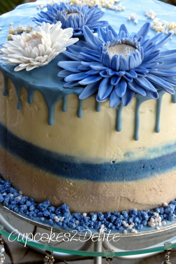 Blue Daisy Drizzle Cake