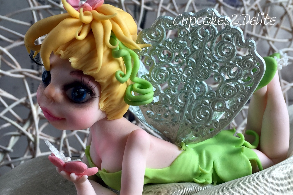 Tinkerbell Figurine for a Woodland Cake