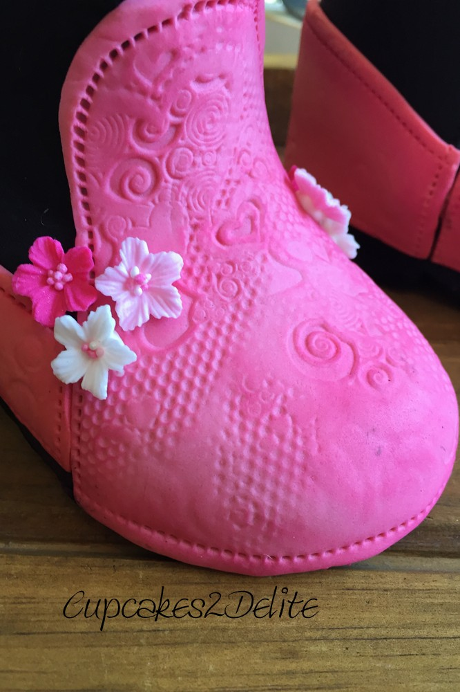 Cowgirl Sugar Paste Boots