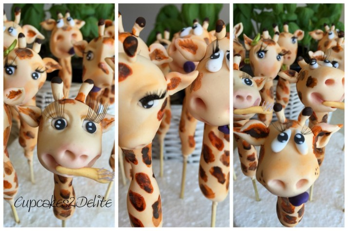 Sugar Paste Giraffe Cupcake Toppers