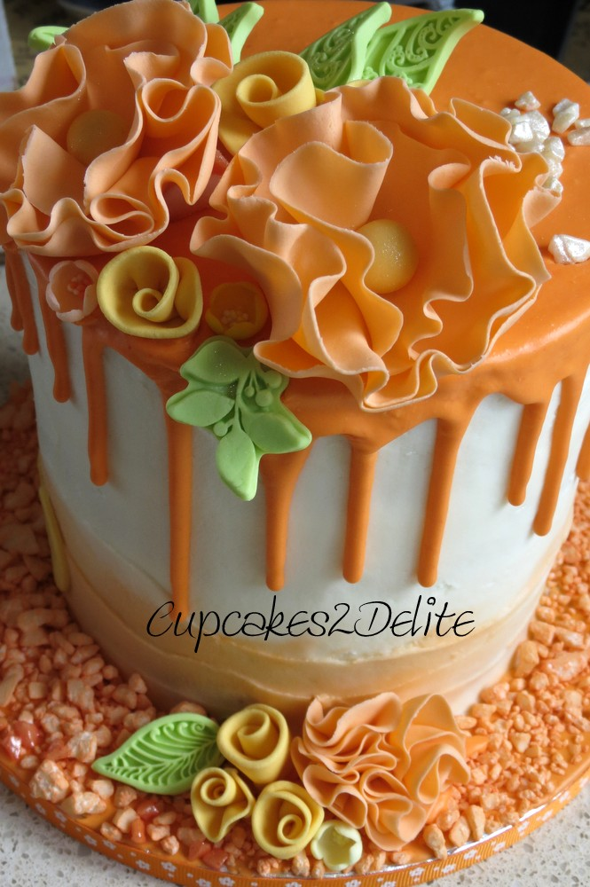 Orange Flower Drizzle Cake