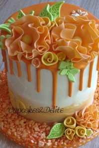 Orange Flower Drizzle Cake